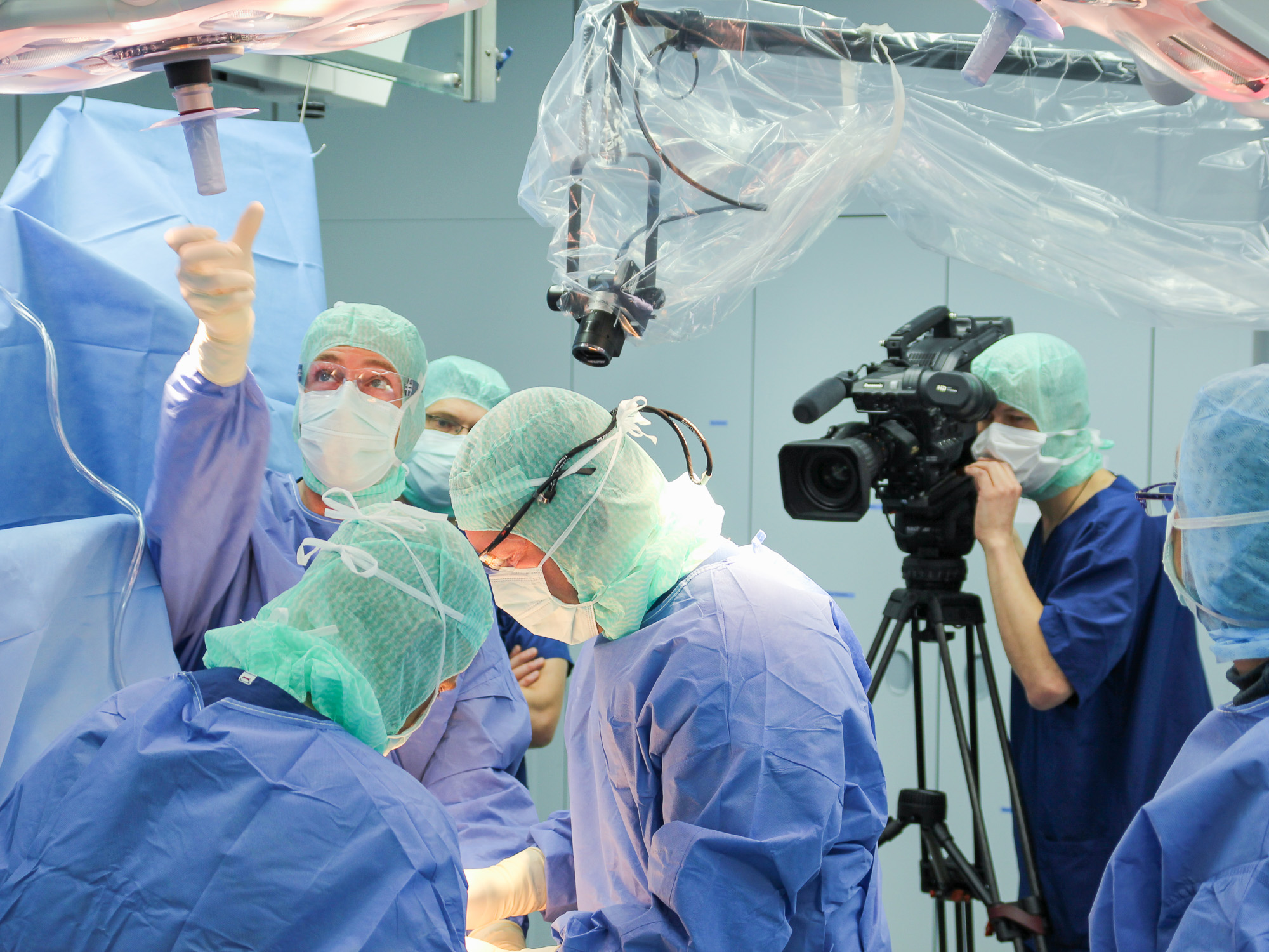 Medical Polecam im Operationssaal