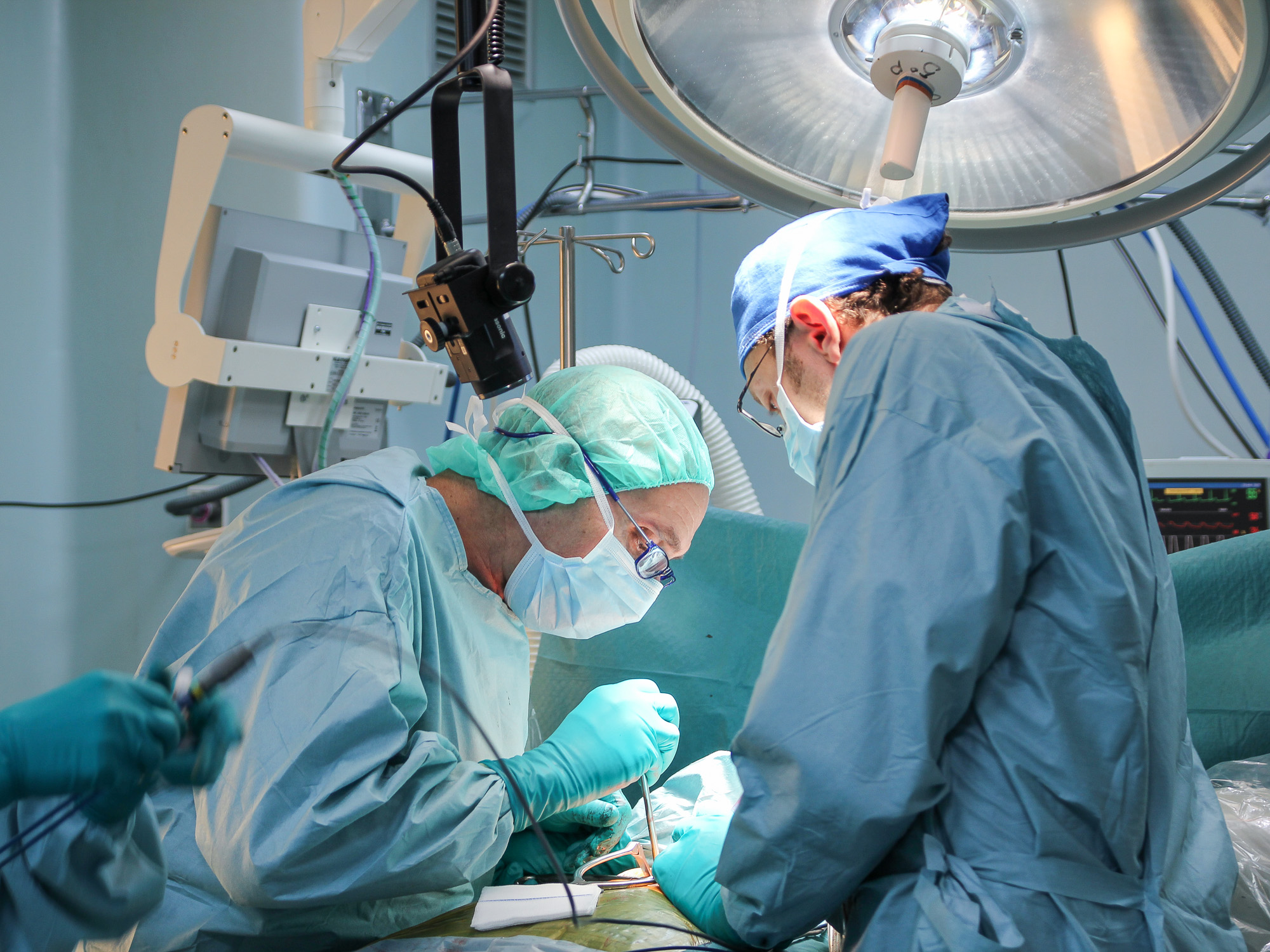 Medical Polecam in the operation theatre
